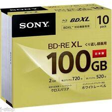 10 Sony 3D Bluray Discs BD-RE BDXL 100GB 2x Speed Printable Bluray Disc Repack