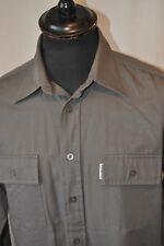 Ben Sherman grey work wear shirt size medium mod casual rockabilly