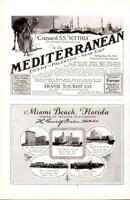 Advertising Cunard S.S.Scythia Palestine Miami Beach Florida The Flamingo 1926