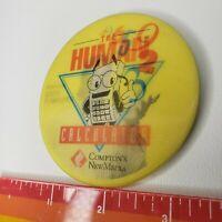 "Vtg 90s Human Calculator Scott Flansburg Button Pin 3"" Promo Lenticular Computer"