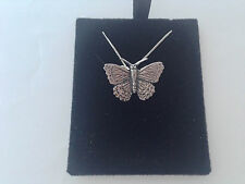 C2 Small Butterfly on a 925 sterling silver Necklace Handmade 26 inch chain