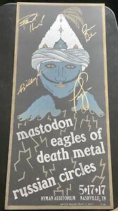 Mastodon Hatch Show Print Poster Ryman Auditorium Nashville Signed 2017 EODM