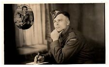 Postcard WW2 Royal Canadian Artillery Soldier Alvin Wife Kids Canada RPPC Z