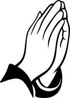 Praying Hands Vinyl Decal Sticker Car Truck RV Window Bumper Wall Laptop Tablet