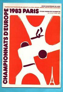 Orig.Komplette PRG  Judo Europameisterschaft / EM PARIS 1983  !!  SEHR SELTEN