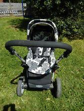 Kinderwagen Gesslein F6 Alu-Rahmen, Maxi Cosi Babyschale mit sehr viel Zubehör