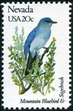 USA -1982- State Bird & Flower <NEVADA>  Mountain Bluebird 😁   Sagebrush 😎