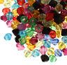 400 Kunststoffperlen Luxus Acryl Perlen 8mm Facettiert Doppelkegel Bunte D806