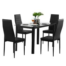 Popular Different Style 5 Piece Dining Table Settables Glass Metal Furniture US