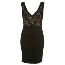 RARE London @ Topshop Black Stretch Studded Sleeveless Mini Dress Size 8