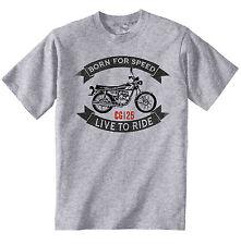 HONDA CG 125-Nuova T-Shirt grigio Cotone-Tutte le taglie in magazzino