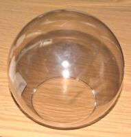 "CLEAR SMOKE GLASS BALL 6"" Diameter 3"" Fitter GLoBe GlaSsWaRe NECKLESS NEW MinT"