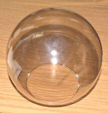 "NEW Clear Smoke GLASS BALL 6"" Dia 3.5"" Fitter LaMp LigHt GLoBe GlaSsWaRe ShAdE"