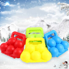 WINTER SNOWBALL MAKER CLIP SAND MOLD TOOL KIDS TOY FIGHT OUTDOOR SPORTS _GG