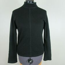 Ibex Usa black mock turtleneck pullover Merino Sweater Base Layer Women M Euc