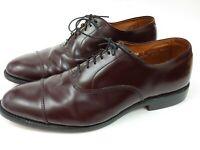 Allen edmonds park avenue 10.5 D Dark Burgundy Leather Cap Toe Oxford Men's...