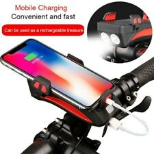 Usb 3 in 1 Multi-Finishing Bike Headlight Led Cycling Lamp Speaker Phone Holder
