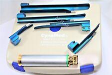 Medical German Premium Laryngoscope Diagnostic Kit 6pcs Handle Titanium Blades