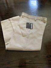 Nwt French Toast Boys School Uniform Flat Front Pants Size 5 Khaki