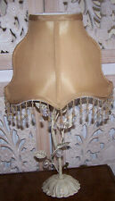 Cream Gilt Metal Table Lamp Gold Shade