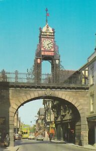 Chester.  Eastgate.  1970s postcard in fair condition -  Written & posted
