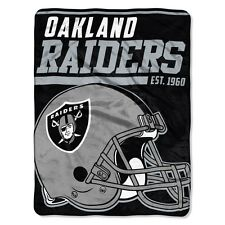 "New NFL Oakland Raiders Soft Micro Rasche Large Throw Blanket 46"" X 60"""