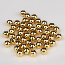 20PCS Pure 3mmW 14K Yellow Gold DIY Bracelet / Necklace Round Bead (Wholesale)