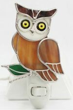 Owl Stained Glass Night Light