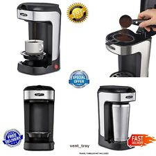 Serve Coffee Maker Single Cup Alternative To K-Cup Plus One Scoop One Cup Black