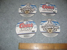 Set of 4 Boston Bruins Stanley Cup Champion Coors Light Coasters