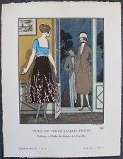 André-E. MARTY Pochoir Art Déco ORIGINAL N°5, pl. 22 - 4/1920 GAZETTE DU BON TON