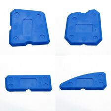 4x Silicone Blue Caulking Tool Grout Smooth Out Tool Shower Sealant Remover Kit