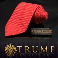 DONALD J. TRUMP~ SIGNATURE COLLECTION Red White Dot NECKTIE POWER TIE 60""