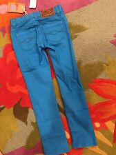 NWT 4 Peek Aren't You Curious Turquoise Bunny Patch Girls Jeans Denim Pants $58