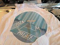 PALACE SKATEBOARDS FW16 TRI CURTAIN XLARGE WHITE LONGSLEEVE LS TEE XL TRI FERG