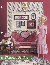 Victorian Setting, Annie's Fashion Doll Furniture Plastic Canvas Pattern FP12-02