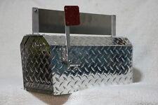 TuffMailBox 9819NP Heavy Duty Aluminum Diamond Plate 16 Gauge Mailbox Medium