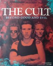 """The Cult """"Beyond Good & Evil"""" U.S. Promo Poster - Heavy Metal, Gothic Rock Music"""