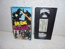 King Kong Vs. Godzilla VHS Video Tape Out of Print RARE