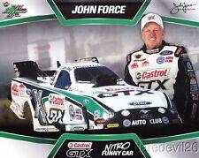 2013 John Force Castrol Ford Mustang Funny Car NHRA postcard