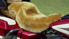 100% MERINO SHEEPSKIN MOTORCYCLE STEP SEAT COVER HONDA/HARLEY ETC. TAILOR MADE
