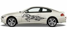 (S3)FIRE FLAME WILD HORSE MUSTANG HEAD TRUCK CAR SIDE  DECAL VINYL STICKER
