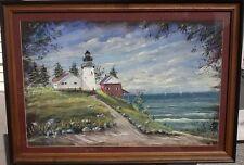 Lighthouse- David Earl Miller -Original Pastel- Signed  2000