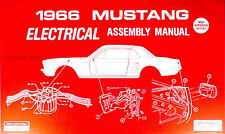 1966 Ford Mustang Electrical Assembly Manual Wiring Diagrams Factory Schematics