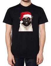 Pug Santa Christmas Hat T Shirt Cute Dog Fashion Life Drugs Present Gift Pets
