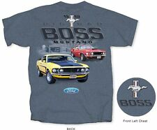 Ford Mustang Big Bad Boss Back Graphic Indigo Heather Men's T-shirt Size L Large