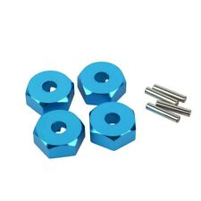 Blue Metal Wheel Hex Nuts 12mm Drive Hubs with Pins Screws 1/10 RC Car Tamiya