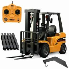 1:14 Diecast RC Forklift Full Functional 8-Channel Alloy Construction Vehicle