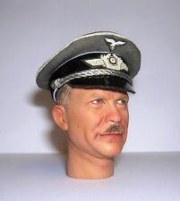 Banjoman 1:6 Scale Custom ALLEMANDE WW2 LUFTWAFFE Officer's Cap