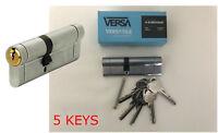 VERSA Anti Snap Dual Finish Euro Cylinder Lock Barrel with 5 KEYS